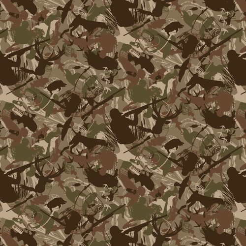 Camouflage Pattern for material