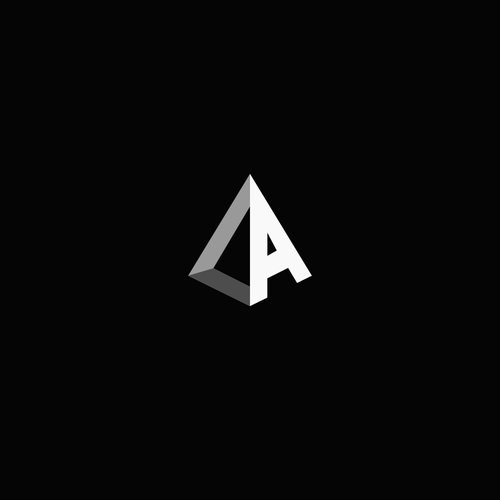 Minimalist monogram with 3D feel