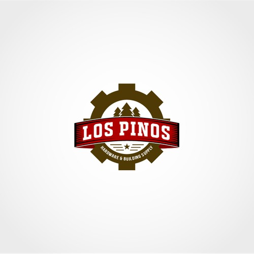 Classic or Western Los Pinos Hardware & Building Supply Logo Contest
