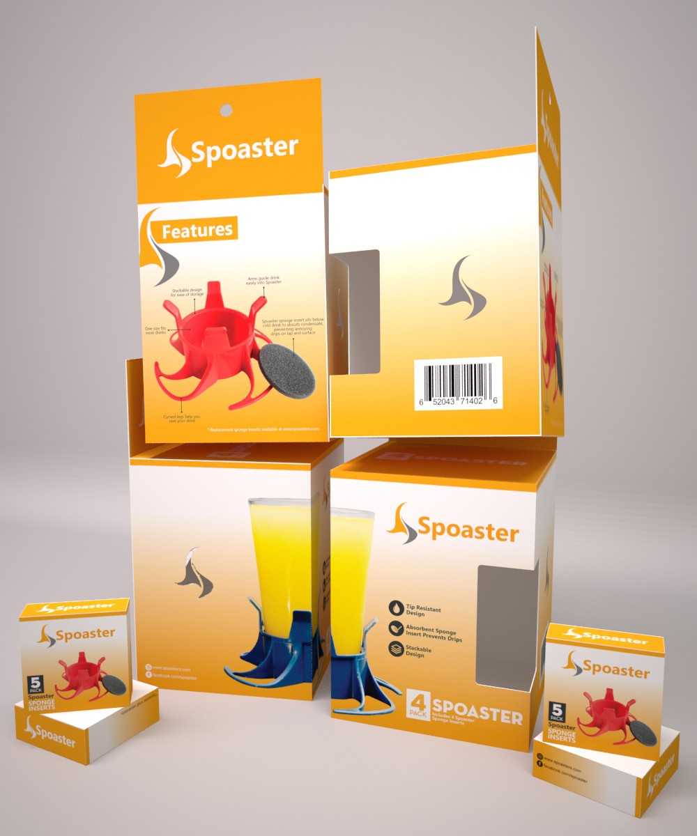 Package design for innovative new Spoaster! Winning designer has option to work on future releases!