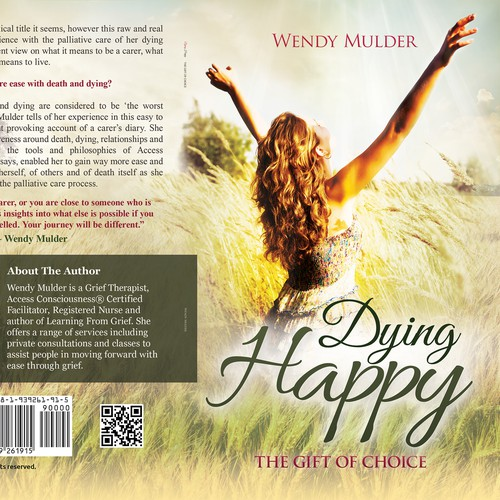 Dying Happy, The Gift of Choice - create an inspirational book cover
