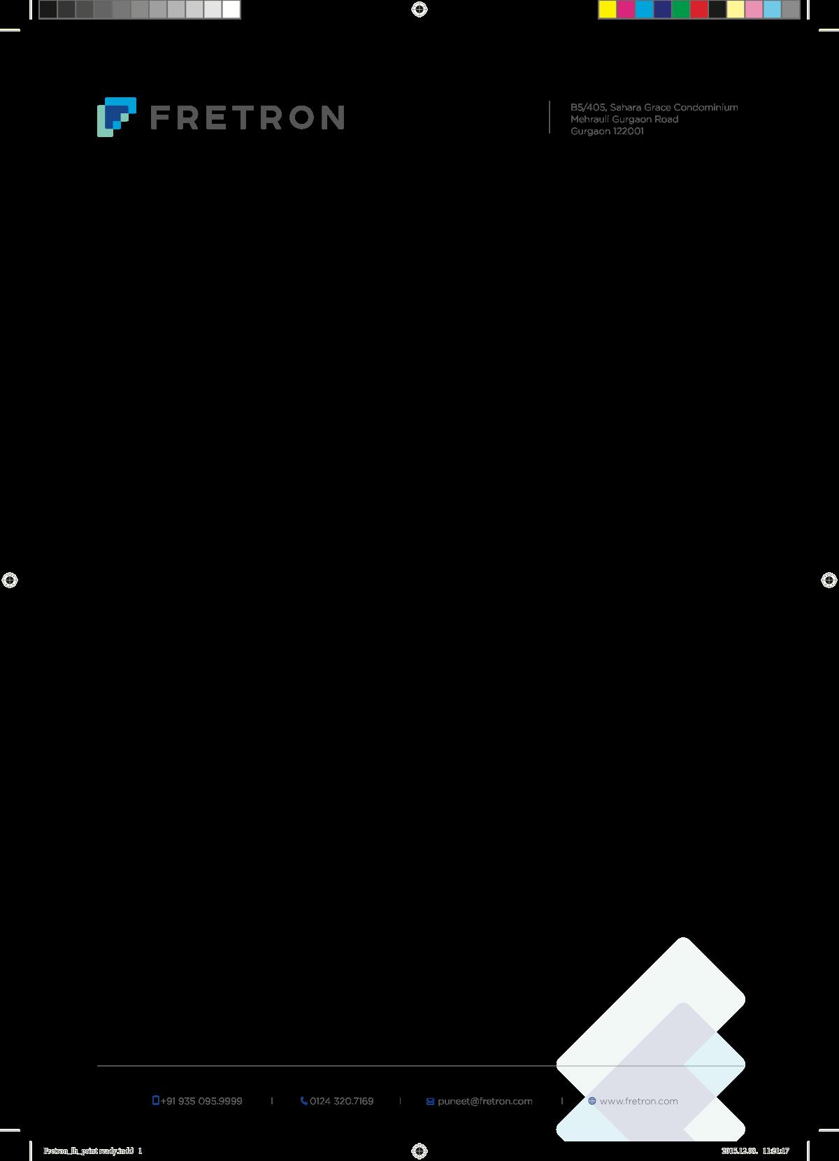 stationary and other design tasks for fretron.com