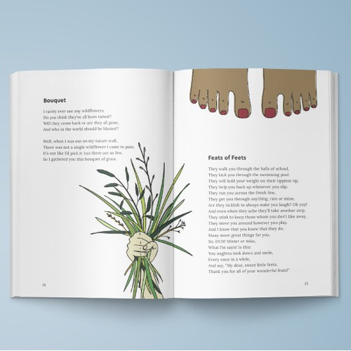 Poetry book layout