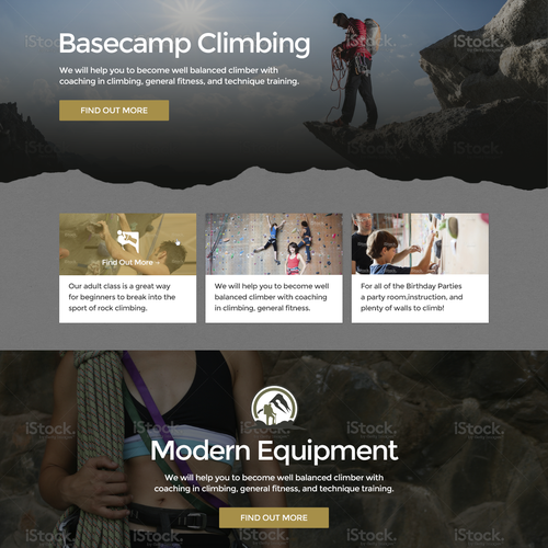 Basecamp Climbing Website