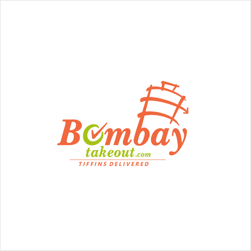 a logo for a hip and modern Indian food delivery company