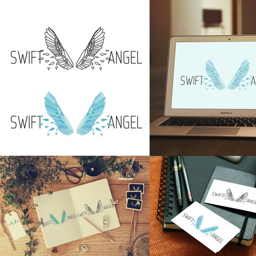 Logo concept for a  software developer that does 3D modeling, simulation and analytics, Swift Angel