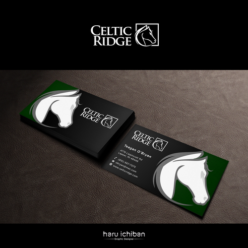 Horse Farm Celtic Ridge Business Card Project