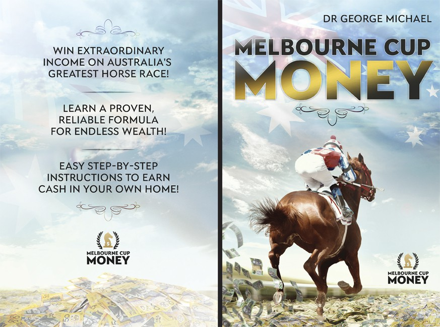 A simple but outstanding ebook cover & logo for Melbourne Cup Money