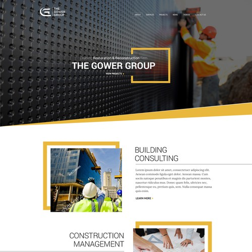 Layout Design for Construction Company