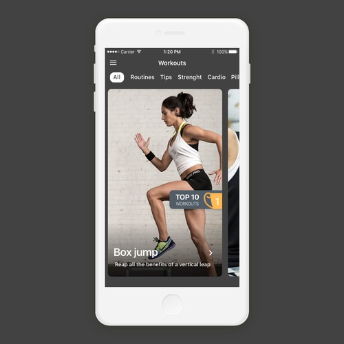 Mobile iOS workout app