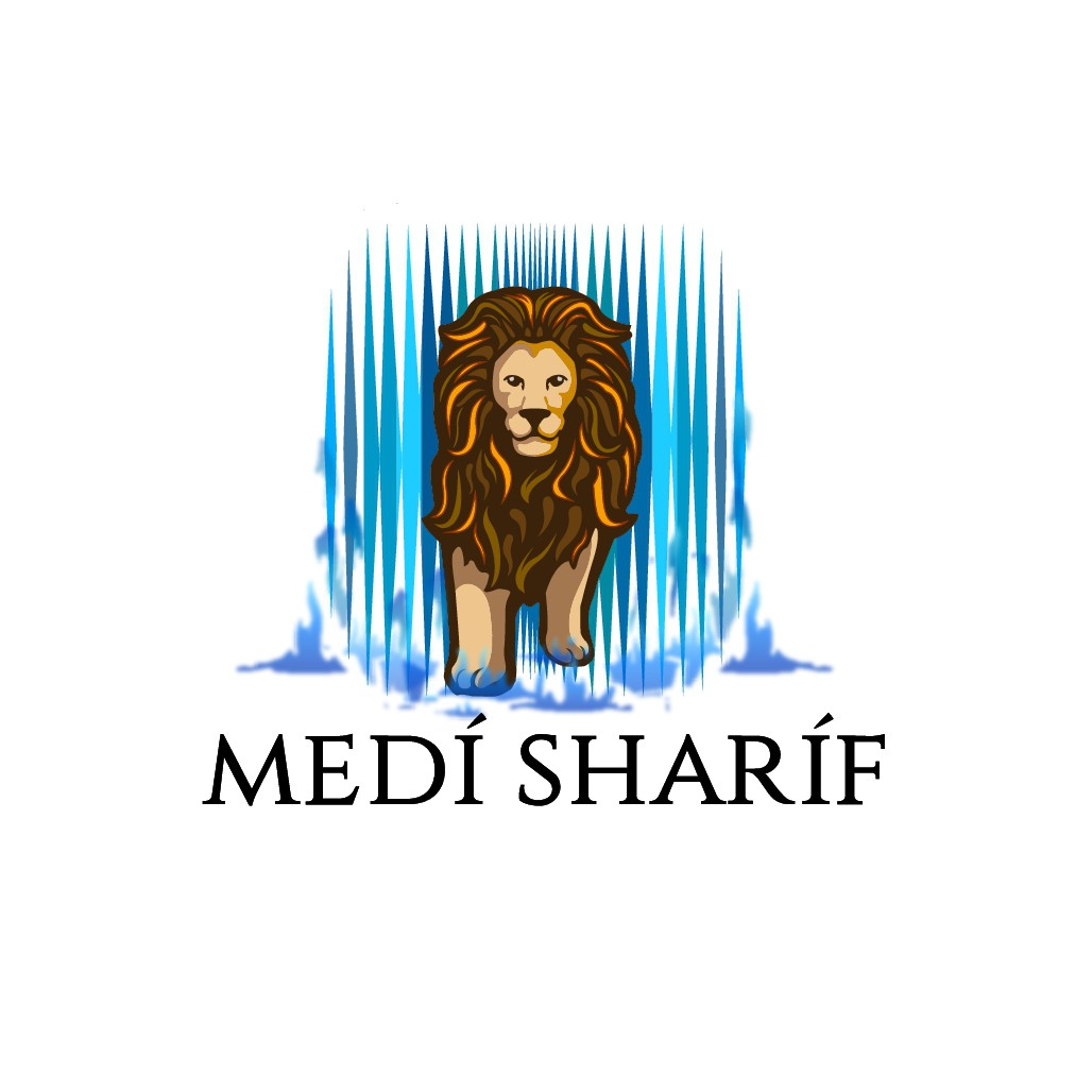 Waterfaller adventure seeker inspiring lion + waterfall logo