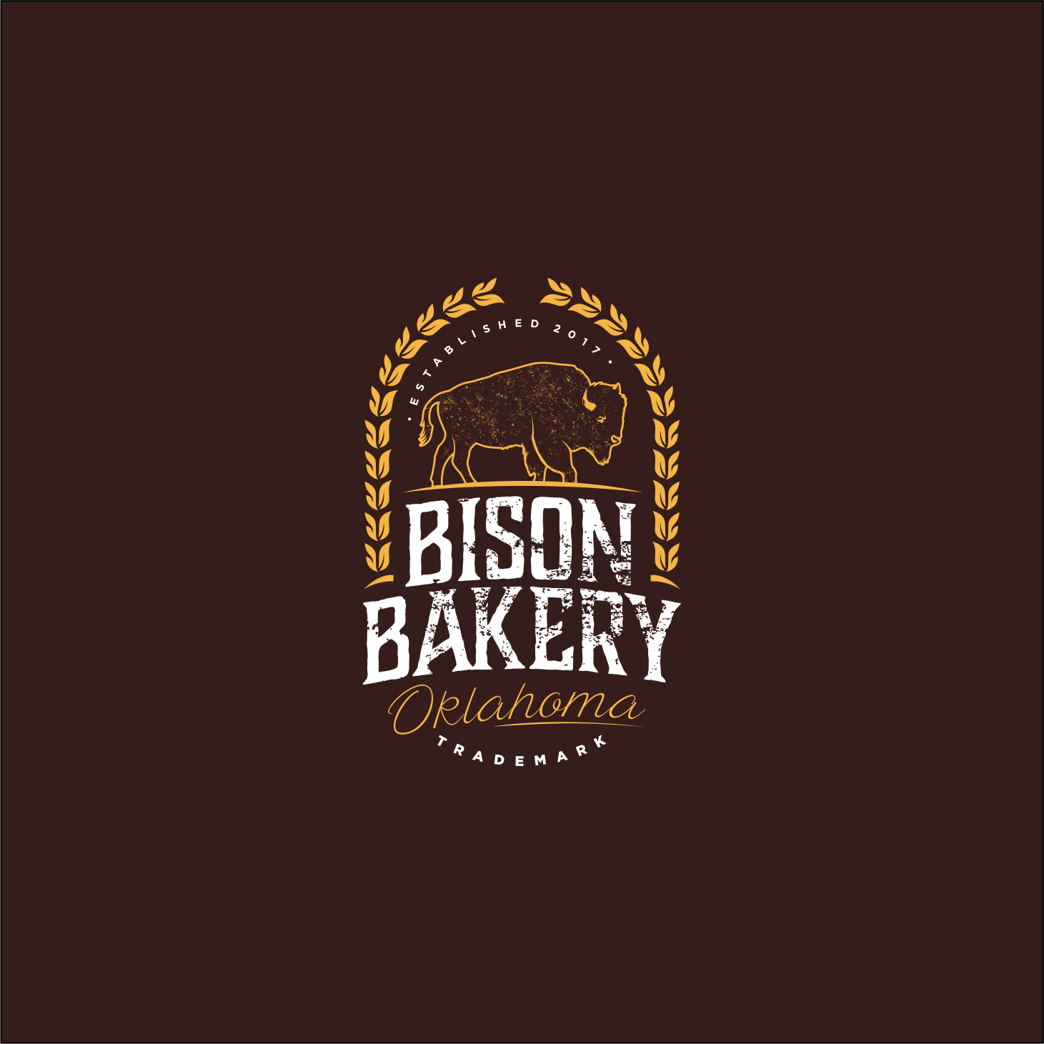 Local Oklahoma bakery needs a rustic/cool logo. Think brewery. - Bison Bakery