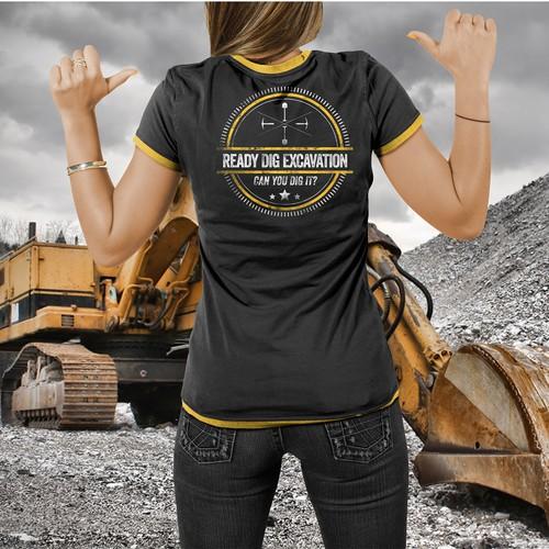 Excavation T-shirt print