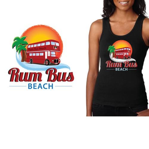 playful logo for beach bar