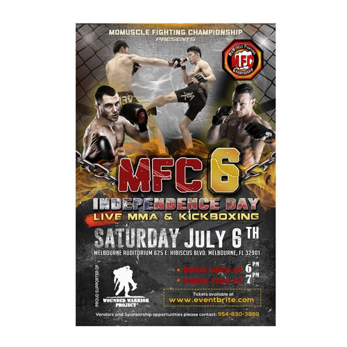 MMA & kickboxing flyer