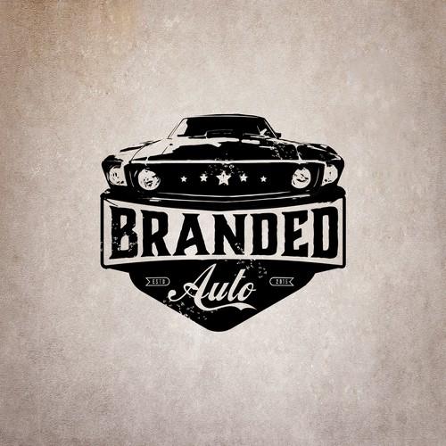 Logo for a vintage muscle car repair shop