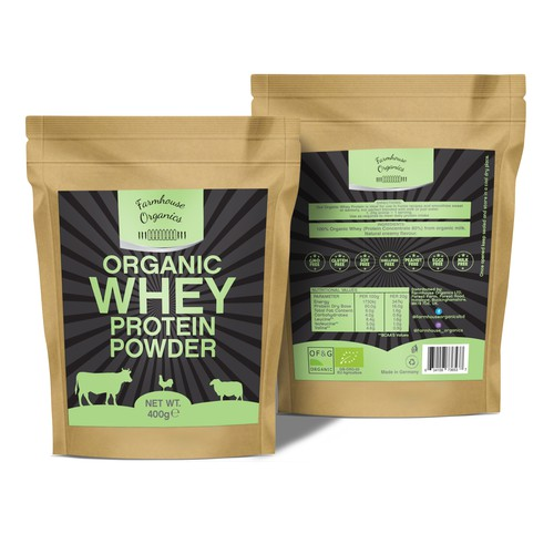 Pouch design for Organic WHEY protein powder
