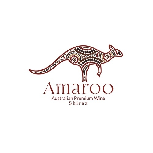 Kangaroo and Aborigin Arts logo concepts for Amaroo