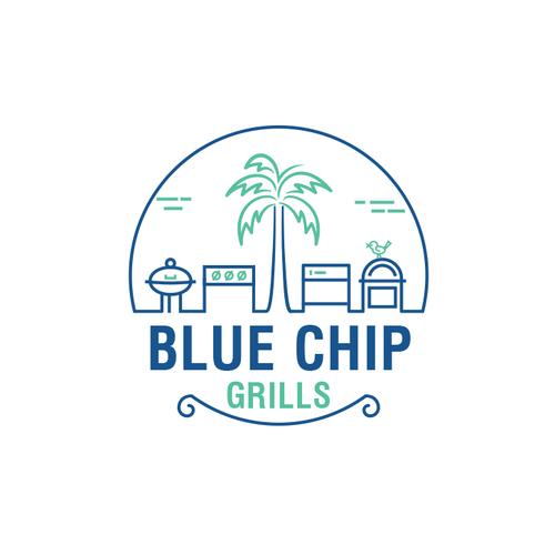 Blue Chip Grills Logo Design Project