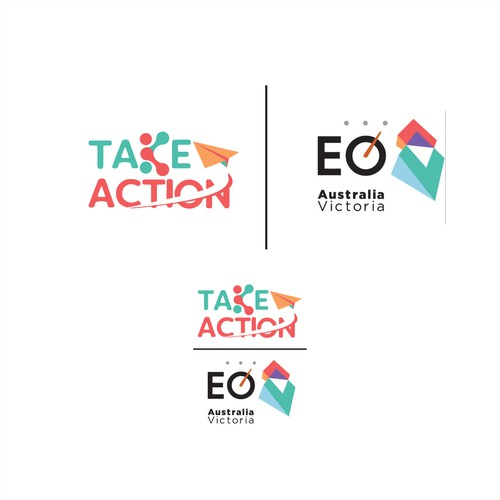 Take action logo design