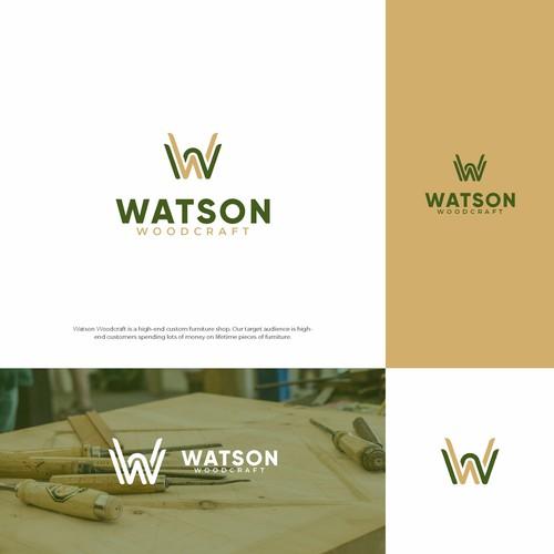 WATSON WOODCRAFT LOGO CONCEPT