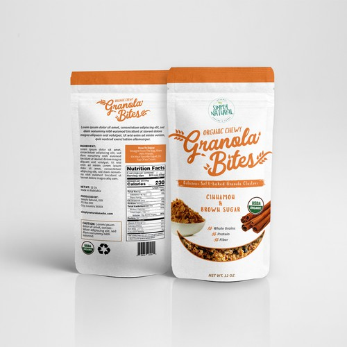 Design a package for Granola Bites