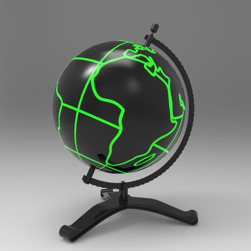 Earth globe model for a feature film.