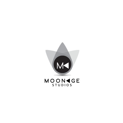 Create a minimalist logo for Moonage studios