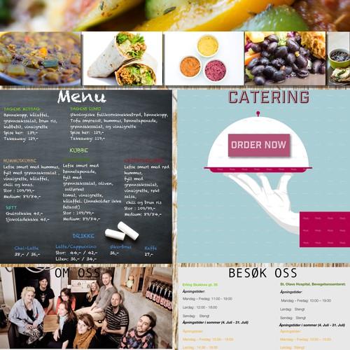 Web design for Vegan Eatery