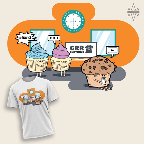 Shirt design illustration for grr clothing contest