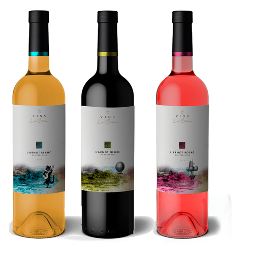Striking design for a wine brand