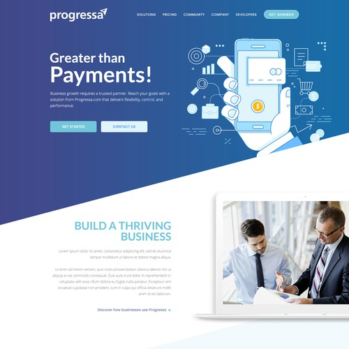 Partner Website for Progressa