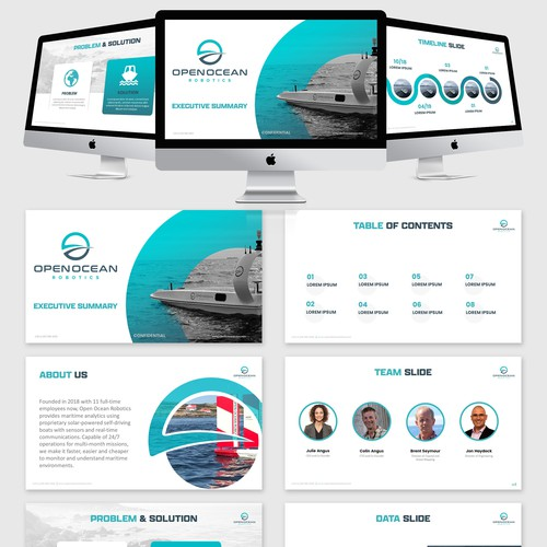 Ocean drone -PowerPoint presentation