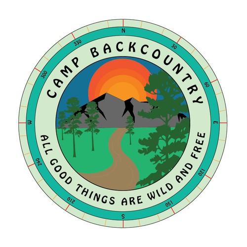 Retro Logo Design for Summer Camp