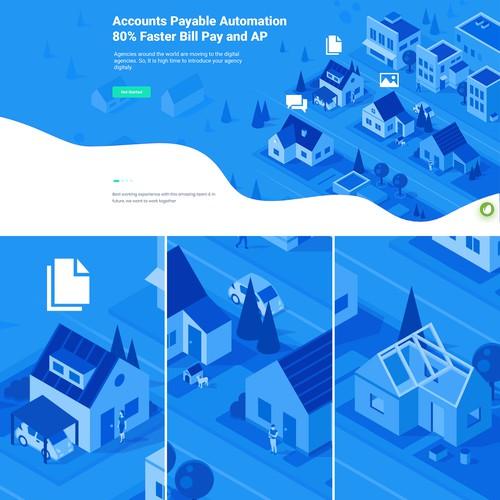Real Estate Website Illustration