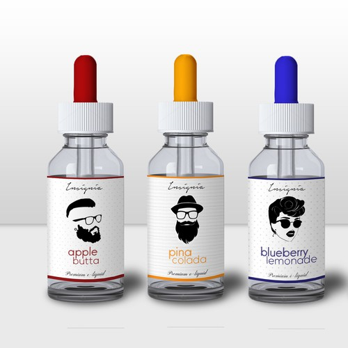 Hipster e-liquid design