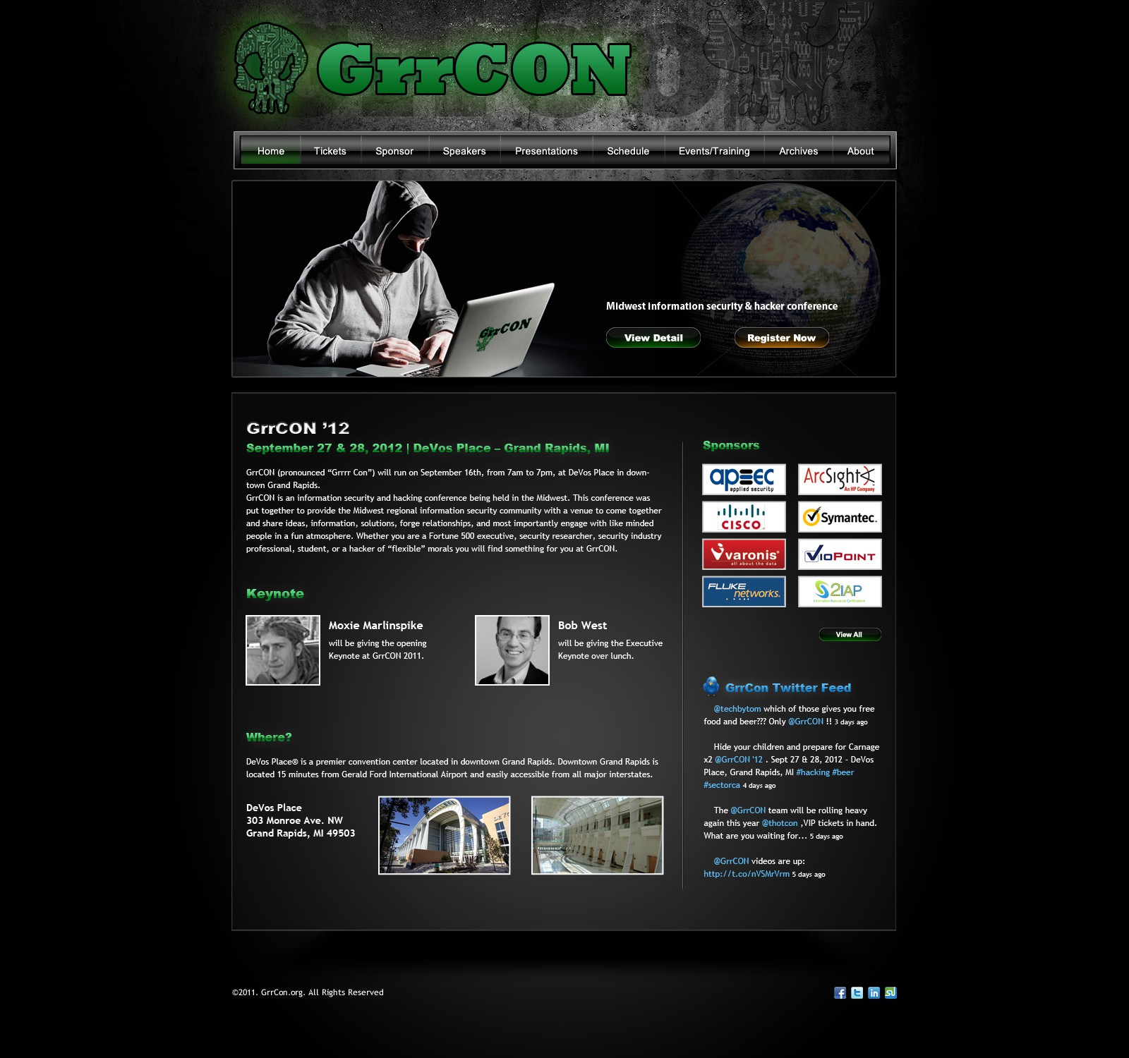 Help GrrCON  with a new website design
