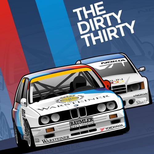 The Dirty Thirt Event Logo
