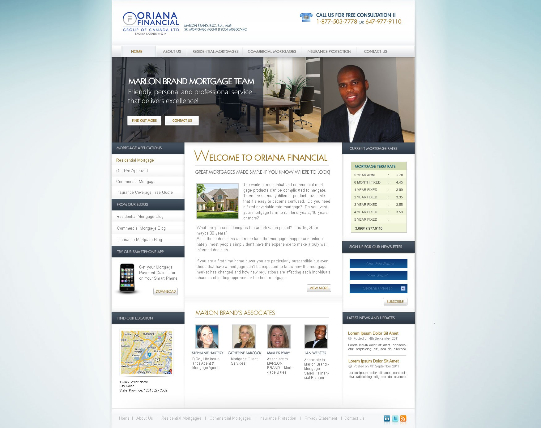 Help we are mortgage brokers at oriana financial with a new website design