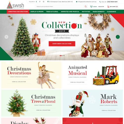 Wholesale Christmas Decorations website re-design