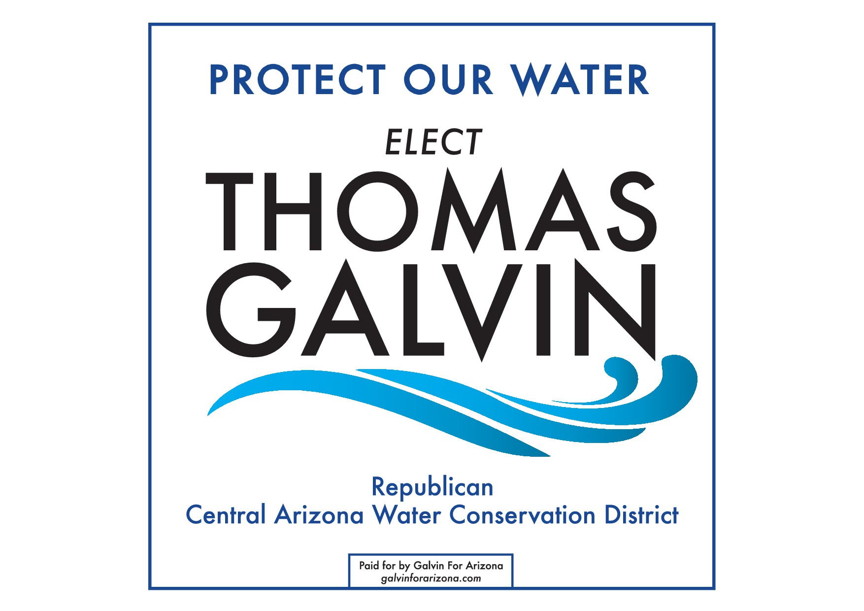 Design a fun, unique logo and sign for a Political Campaign for the Water Conservation District