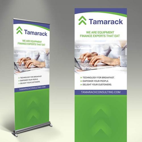 Create a career fair table top display for Tamarack