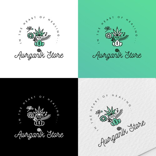 Logo for an essential oil store
