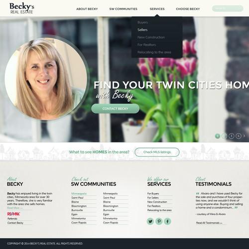Design a Real Estate Agent's Website