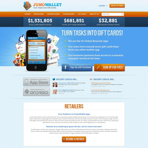 Juno Wallet: Web Design