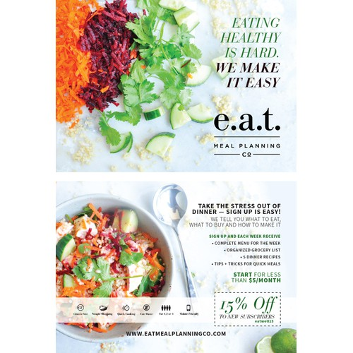 Postcard for e.a.t Meal Planning