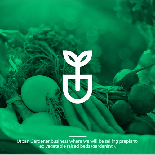 Urban Farmer / Gardener Logo design