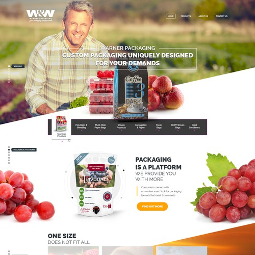 Warner Packaging Web Designs