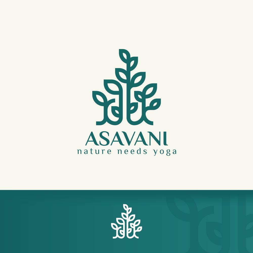 Bringe Yoga in Verbindung mit der Natur und kreiere ein einzigartiges Marken Logo.