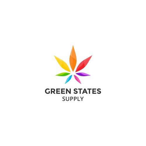 Clean and Minimalist logo design concept for Green States Supply.